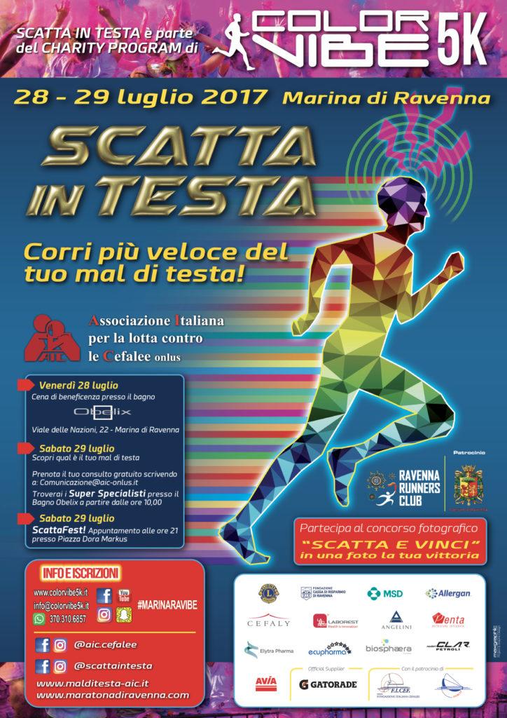 LOCANDINA Scatta in testa - Color Vibe 5K 2017